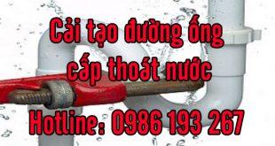 cải tạo đường ống nước