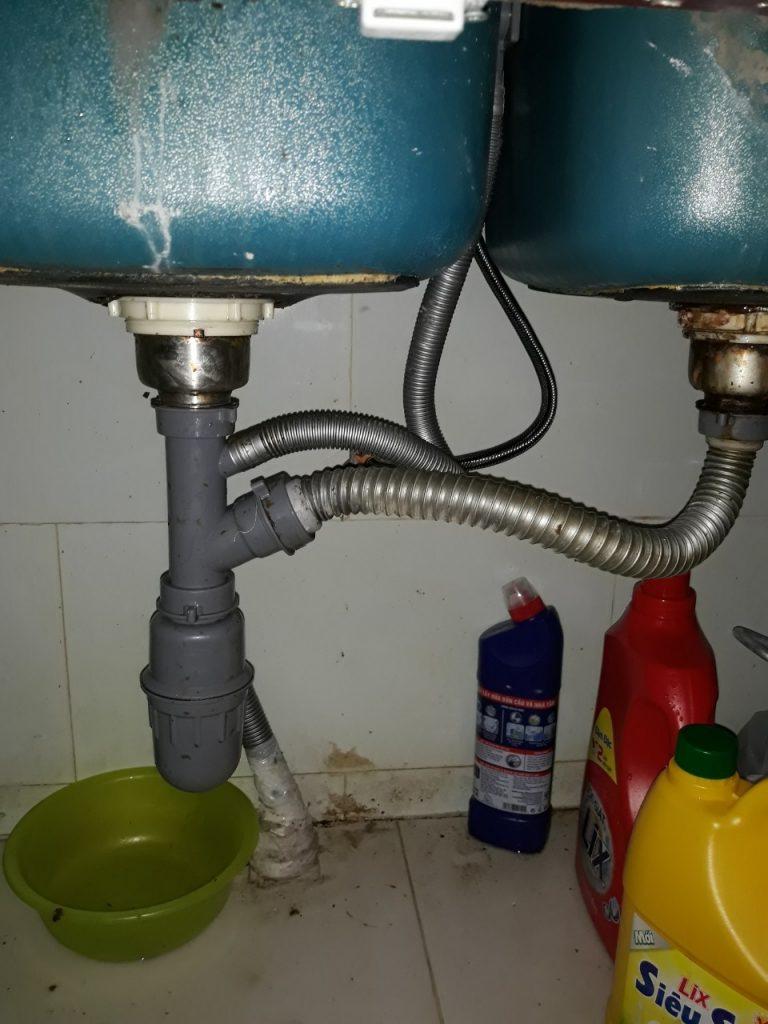 thông bồn rửa chén